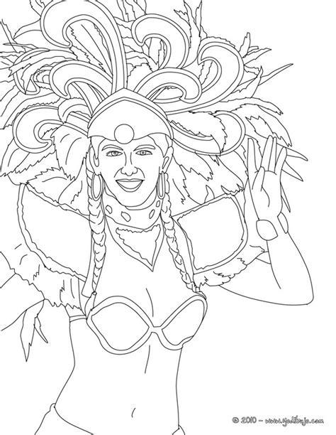 dibujos de bailarinas del carnaval de rio  pintar