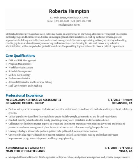 Administrative Assistant Office Resume by 10 Executive Administrative Assistant Resume Free
