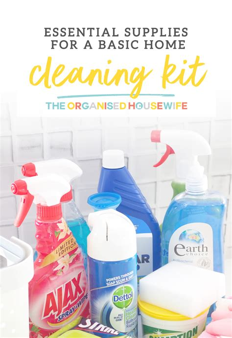 essential supplies   basic home cleaning kit