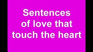 Loving Words That Touch The Heart