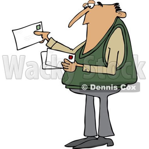 11478 mail letter clipart clipart of a white looking at letter mail envelopes