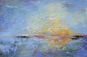 Original art for sale at UGallery.com | Sunset over Water ...