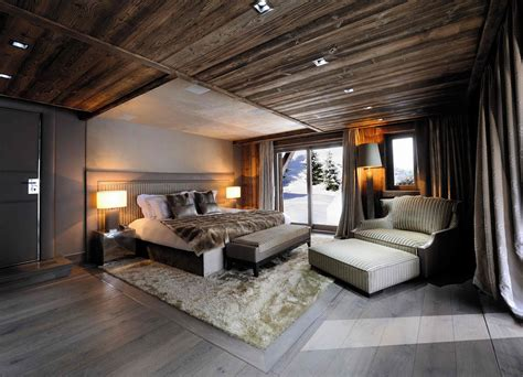chambre chalet luxe chic modern rustic chalet in the rhône alpes idesignarch