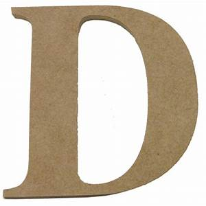 Boyle large craftwood letter d bunnings warehouse for Large initial letters