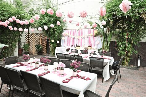 Girly outdoor California bridal shower with soft pink