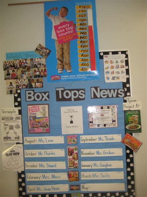 Box Tops Bulletin Board Idea