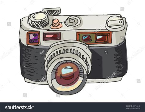 vintage photo camera cartoon stock vector