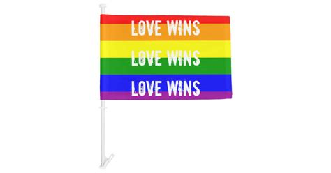 Love Wins Love Wins Love Wins Car Flag | Zazzle