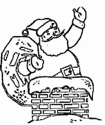 Christmas Coloring Fireplace Father Pages Chimney Drawings