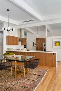 this mid century modern kitchen cooks up a airows