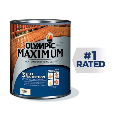 olympic maximum clear exterior stain actual net contents