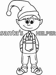 christmas elves coloring pages printable
