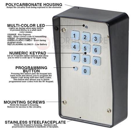 multi code garage door keypad heddolf m330 1ka wireless gate and garage door opener keypad