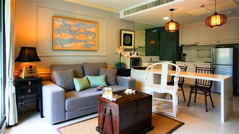 Living Room Kitchen Combo  Small Living Space Design