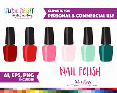 Nail Polish Clipart Clip Vector Nailpolish Stickers