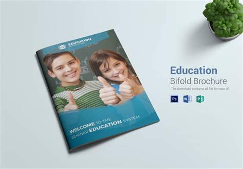 25 Free Printable Brochure Templates In Psd Eps Ai Education Brochure Templates Education Brochure
