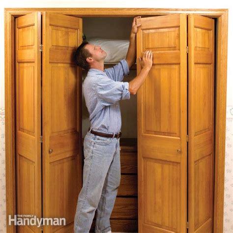 fix stubborn bifold closet doors  family handyman
