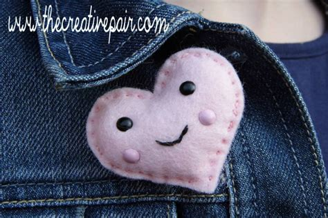 DIY Felt Heart Brooch - Red Ted Art - Make crafting with ...