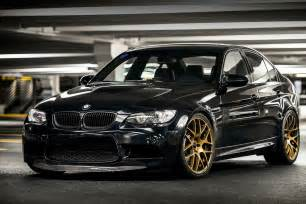 BMW Black with Gold Rims
