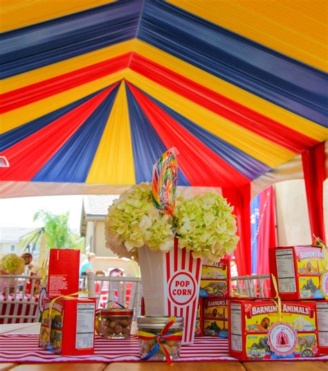 rustic wall treatments circus themed birthday celebration a1