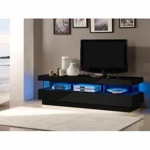 Meuble Tv Led Noir : meuble tv led noir achat vente meuble tv led noir pas cher soldes cdiscount ~ Teatrodelosmanantiales.com Idées de Décoration