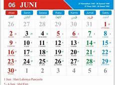 Kalender Jawa Bulan Juni 2019 lengkap dengan Hari Raya