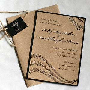 1000 ideas about music wedding invitations on pinterest With handmade wedding invitations by carol
