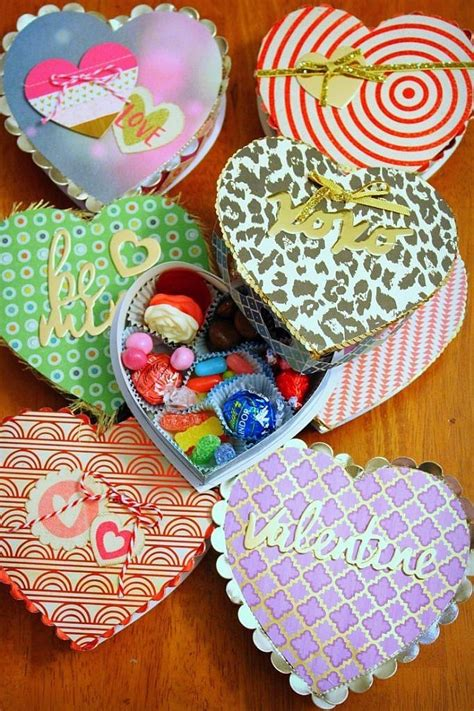 diy valentines day heart shaped candy box knock   kim