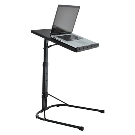 portable computer desk folding black laptop table adjustable height portable