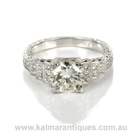 deco style engagement rings deco style engagement ring