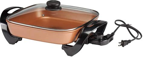 copper chef  electric skillet  life easy
