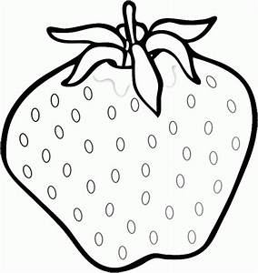 Fresh Strawberry Coloring Pages