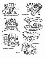 Coloring Disaster Tsunami Natural Disasters Printable Both Submerged Popular Flooded Sabrinaslunchinabox Guardado Desde sketch template