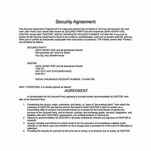 security agreement 9 download free documents in pdf word With security contracts templates
