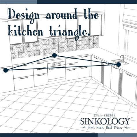 kitchen triangle design the 127 best images about sinkology on copper 3391