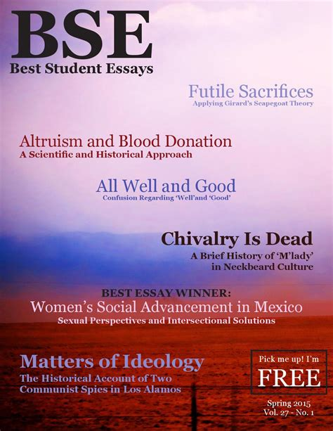 Best Student Essays Unm Student Publication The 2015 By Best Student Essays Issuu