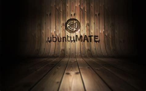 wooden high ubuntumate curved wood embossed artwork ubuntu mate