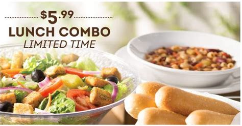 lunch at olive garden olive garden unlimited 5 99 lunch combo
