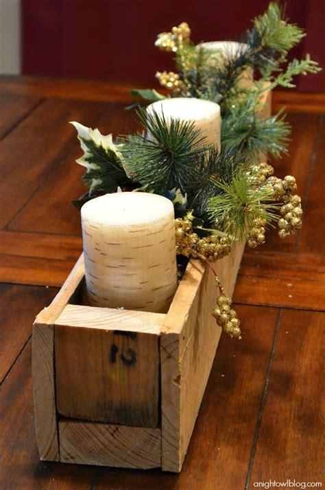 diy pallet wood centerpiece box  night owl blog