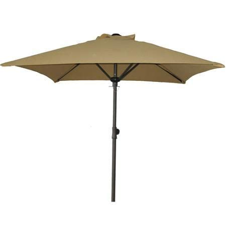 Walmart Patio Tables With Umbrellas by 6 Foot Square Mainstays Patio Umbrella Dune 29 The