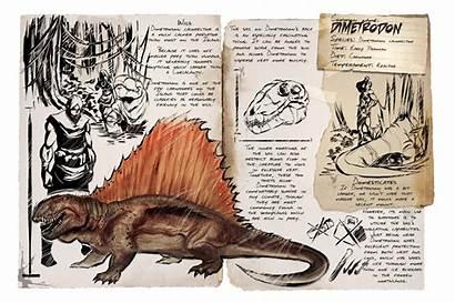 Ark Dimetrodon Survival Evolved Dossier Gallimimus Dinosaur
