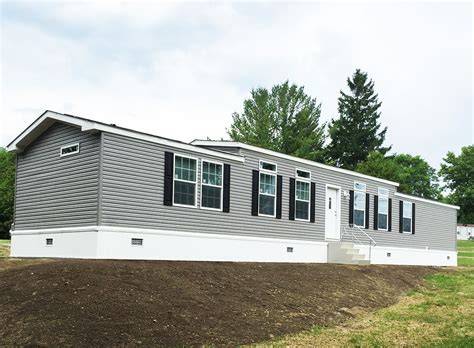 aa single wide manufactured home exterior village homes