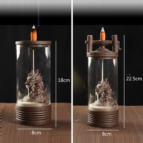 Well you're in luck, because here they. Incense Burner Dragon Backflow Ceramic Holder Glass Cover Buddhist Decoration | eBay