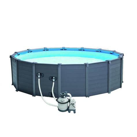 piscine intex graphite solde piscina fuori terra intex 28382 graphite rotonda 478x124