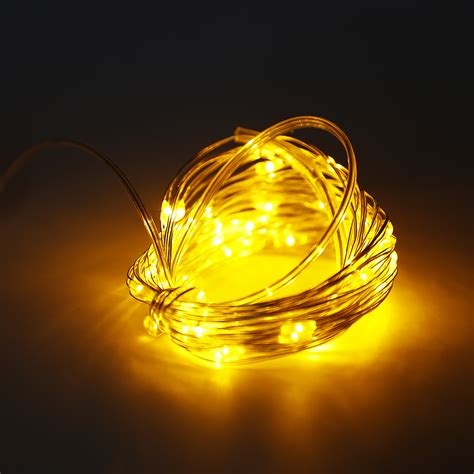 led string lights with remote 6m 60 led copper wire string fairy light 3aa battery box