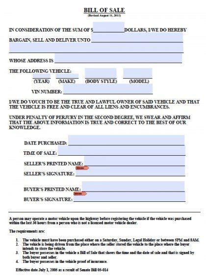 douglas county colorado bill  sale form