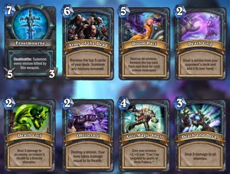 Deck Hearthstone Lich King by The Lich King And His Arrive For Hearthstone S Next