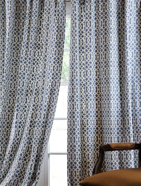 nairobi denim printed cotton curtains drapes