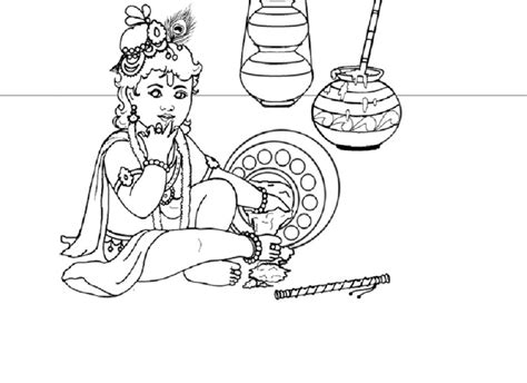 Coloring Pages Of Lord Krishna - Erieairfair