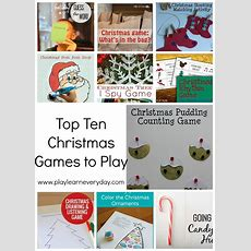 Top Ten Christmas Games To Play  Play And Learn Every Day